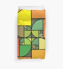 Golden Array of Fall Duvet Cover