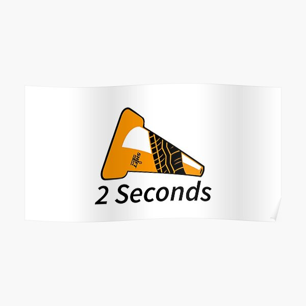Shift Shirts Two Seconds – Autocross Racing Inspired Poster