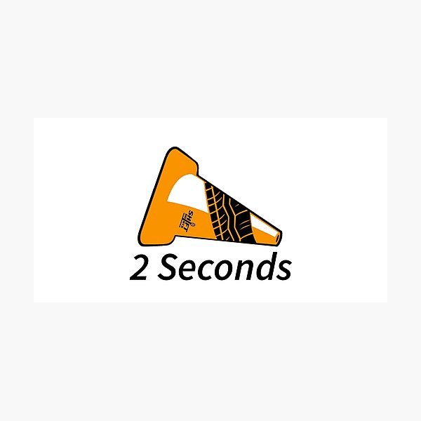 Shift Shirts Two Seconds – Autocross Racing Inspired Photographic Print