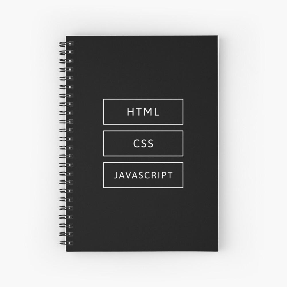 HTML, CSS & JavaScript Developer Spiral Notebook
