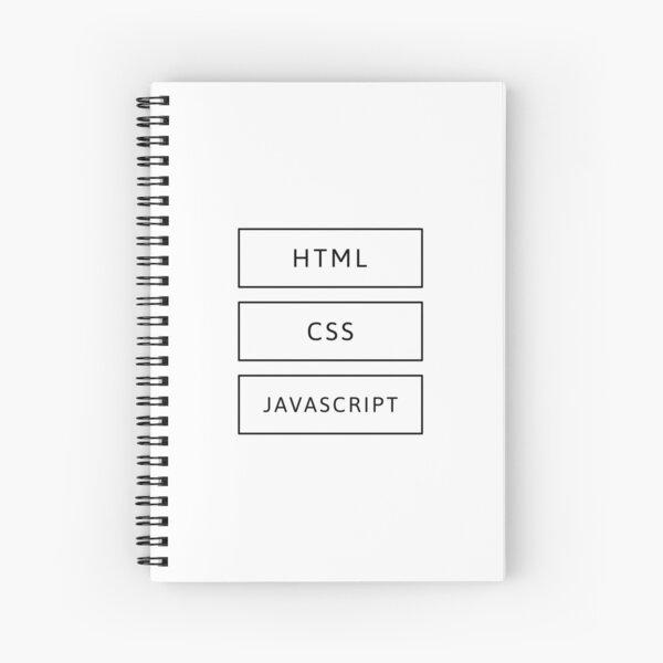 HTML, CSS & JavaScript Developer (Inverted) Spiral Notebook
