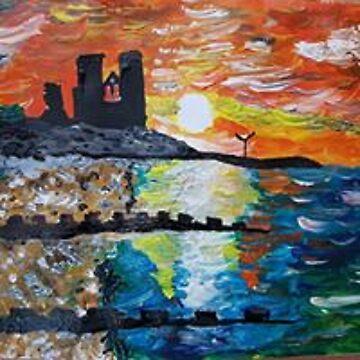 «coucher du soleil à travers la baie» par AbigailBarryArt