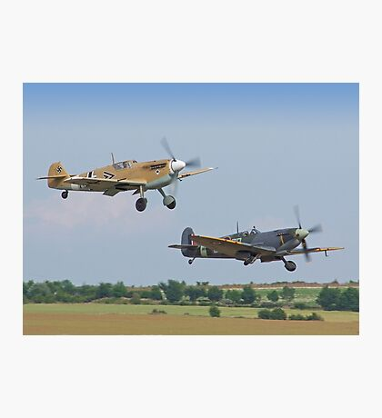 Friend And Foe Take Off - Duxford Flying Legends 2013 Photographic Print