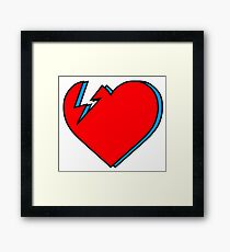 David Bowie - Lightning Heart Framed Print
