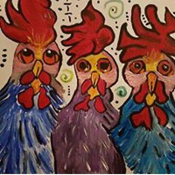 «Tracer de nouveau - Regardez le coq» par AbigailBarryArt
