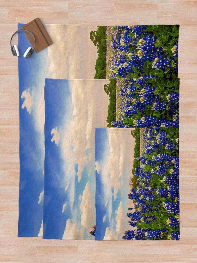 Alternate view of Bluebonnet Texas Throw Blanket