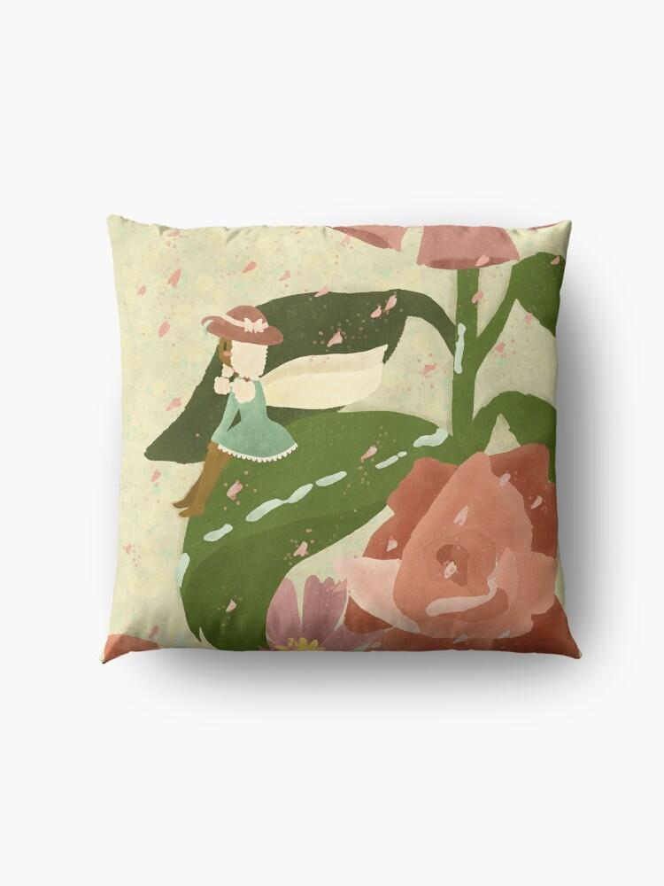 Alternate view of In the Garden Floor Pillow