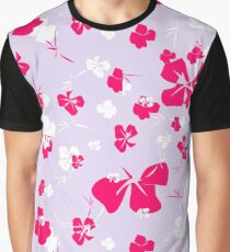 Blossoms in a Frenzy - Lilac Garden Graphic T-Shirt