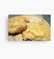Baking Powder Biscuits and Butter Canvas Print