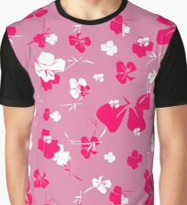 Blossom in a Frenzy - Pink Garden Graphic T-Shirt