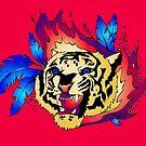 Flaming Tiger by bettinadreier75