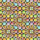 Polka Dots Rainbow Mandala - small scale by PatriciaSheaArt