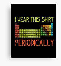 Natural science periodic table Canvas Print
