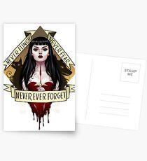 Vergiss niemals Postkarten
