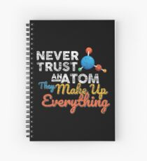 Science Atom Chemistry Spiral Notebook