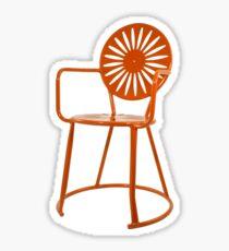 Terrace Chair Orange Sticker