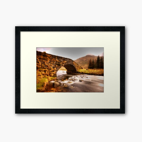 Water under the bridge Framed Art Print