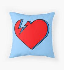 David Bowie - Lightning Heart Throw Pillow