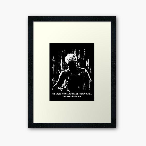 Blade Runner - Like Tears in Rain Framed Art Print