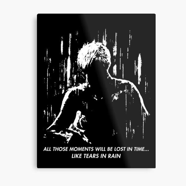 Blade Runner - Like Tears in Rain Metal Print