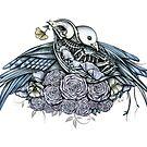 Skeleton Birds in Love by ShaireProd