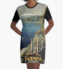 Vintage Taormina Sicily Italian travel ad Graphic T-Shirt Dress
