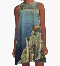 Vintage Taormina Sicily Italian travel ad A-Line Dress