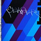 Blue Graffiti by Danielle  Kay