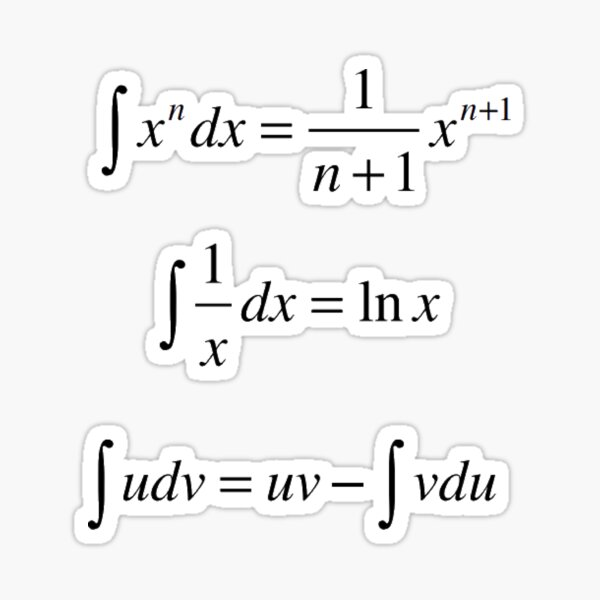 #Integrals, #math, #calculus, #mathematics, Integral, natural, logarithm, naturalLogarithm, exponent Physics Sticker