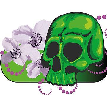 Skull Flower by ZMad