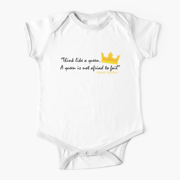 Think like a Queen Short Sleeve Baby One-Piece