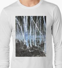 Glitch Effect Tree Landscape Photography Long Sleeve T-Shirt