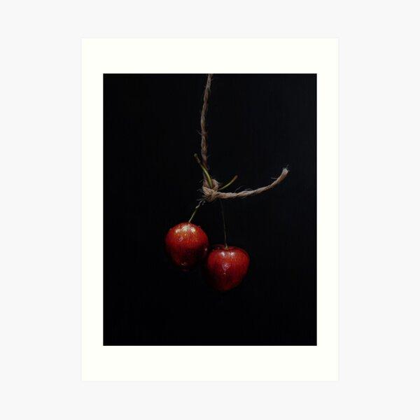 Hanging Fruit - two cherries Art Print