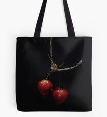 Hanging Fruit - two cherries Tote Bag