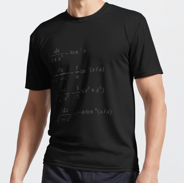 #Integrals #Math #Calculus #Mathematics Integral Function Equation Formula Active T-Shirt
