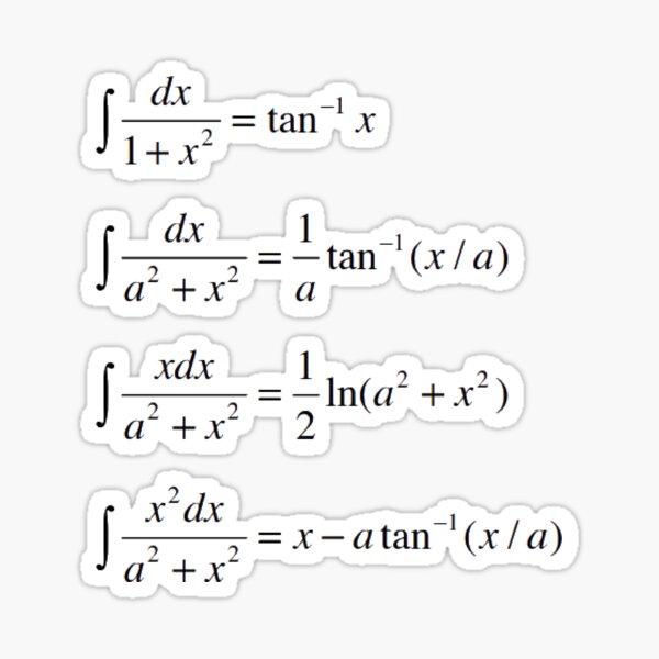 #Integrals #Math #Calculus #Mathematics Integral Function Equation Formula Sticker