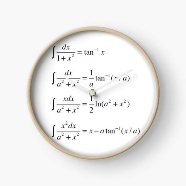 #Integrals #Math #Calculus #Mathematics Integral Function Equation Formula Clock