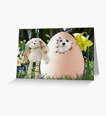 Snowdrop the Maltese - Is it Easter Yet ? Greeting Card