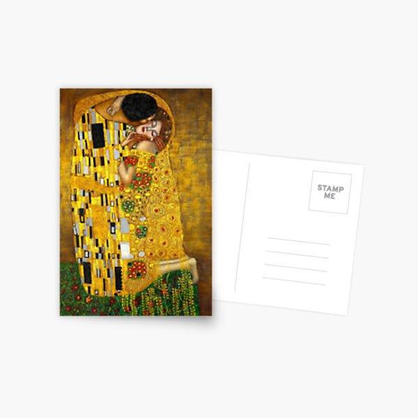 The Kiss Gustav Klimt Painting  Postcard
