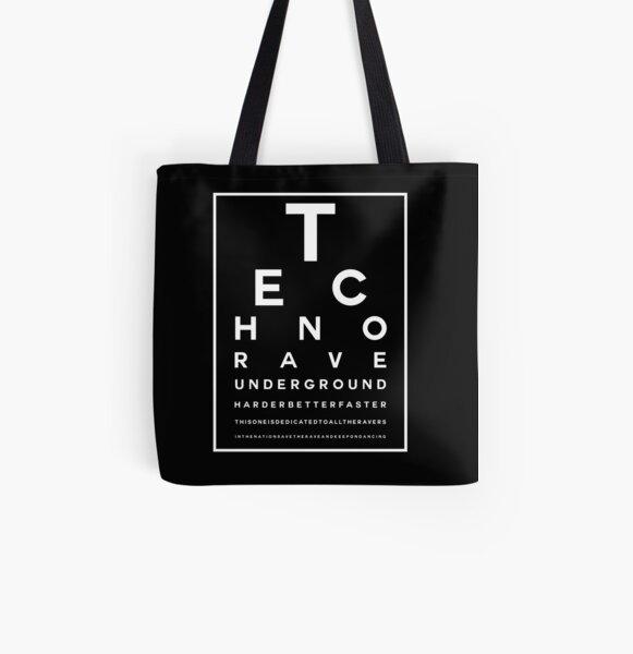Techno Rave Visual Test #2 Allover-Print Tote Bag