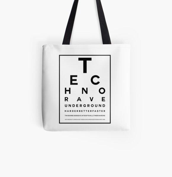 Techno Rave Visual Test #1 Allover-Print Tote Bag