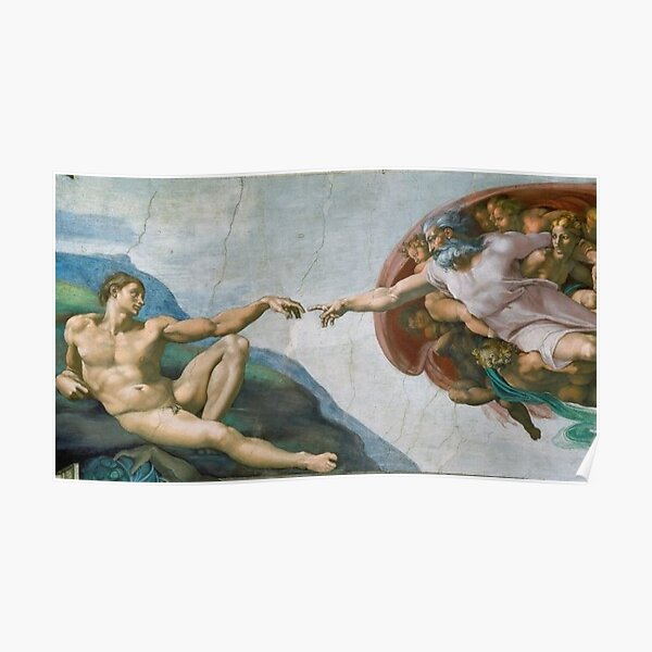 The Creation Of Adam Painting Poster