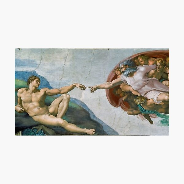 The Creation Of Adam Painting Photographic Print