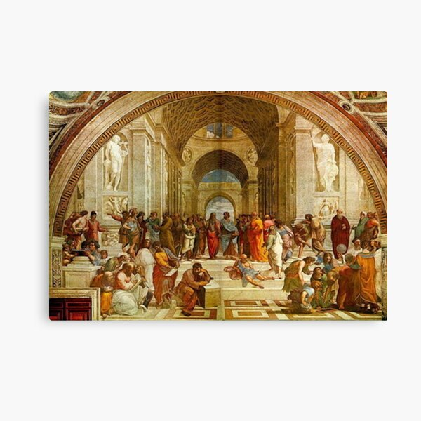 The School Of Athens Painting  Canvas Print