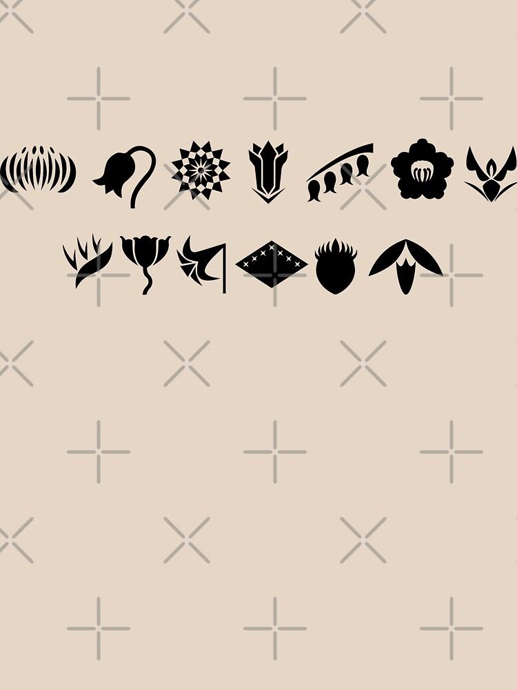 Bleach 13 Squad Gotei Symbols Unisex T Shirt By Ktpep Redbubble