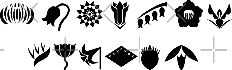 Bleach 13 Squad Gotei Symbols Greeting Cards By Ktpep Redbubble