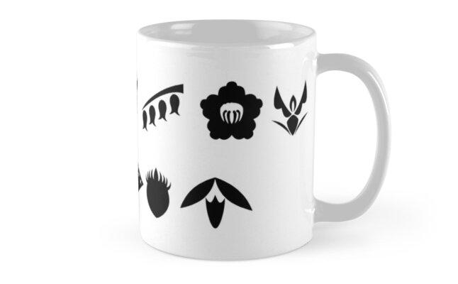 Bleach 13 Squad Gotei Symbols Mugs By Ktpep Redbubble