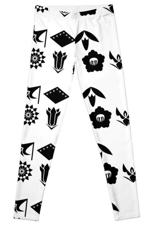 Bleach 13 Squad Gotei Symbols Leggings By Ktpep Redbubble