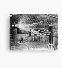 Nikola Tesla Electricity  Canvas Print
