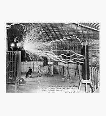 Nikola Tesla Electricity  Photographic Print